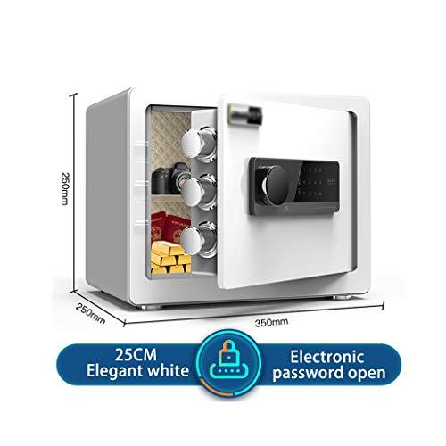 Sicherheit Safe Sicher, Diebstahlsicherungen zu Hause, Elektronischer Safe, Geldschließfach, für Geschäftsdokumente, Schmuck Sicherheitswerkbank (Color : White, Size : 25)