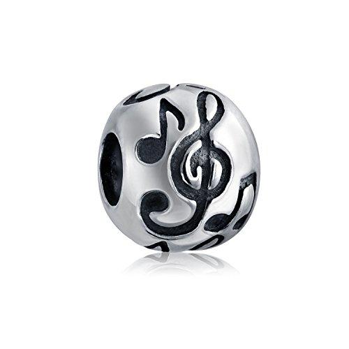 Musik Melo Noten Tabelle G-Schlüssel Musiker Charm Bead Charms Für Damen Sterling Silber Passt Europäischen Armband