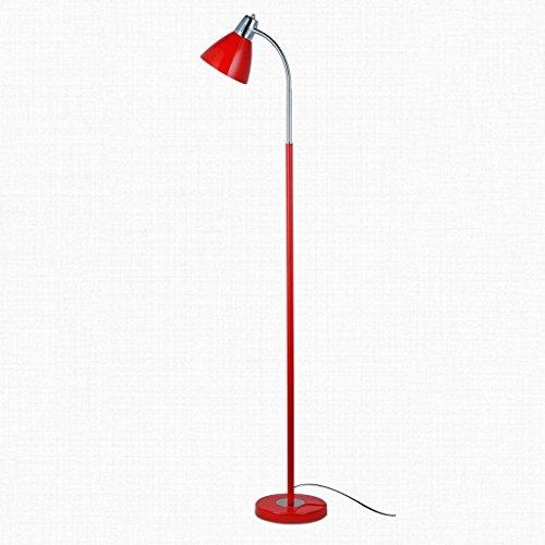 DSJ Staande lamp Staande lamp ijzer creatieve woonkamer studie lamp lezen verticale stijl vloerlamp, rood