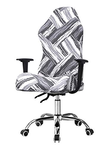 SONNACH Printed Gaming Chair Covers, Reclining Desk Office Chair Covers,Computer Desk Office Chair Covers (Grey  Mississippi