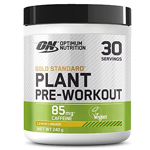 Optimum Nutrition ON Gold Standard Plant Pre-workout, Pre Workout Vegano in Polvere con Caffeina, Limone Lime, 30 Porzioni, 240 g