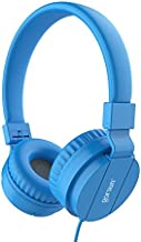 Kids Headphones for Boys, Comfortable Corded Foldable Headset for Children & Toddlers, Soft On-Ear Lightweight Child Earphones for Tablet, Cellphone, Computer, School & Kindergarten Kids (Blue)