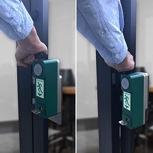 Betriebsausstattung24® Einhand Türwächter | Exit Controller | Alarmton 98db | Komplettset inkl. Zylinder & Batterien (Exit-Controller Standard)