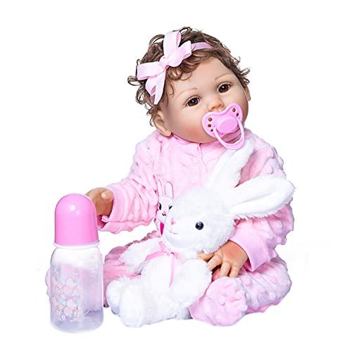 Staright 470mm de Cuerpo Completo de Silicona Reborn Baby Doll Impermeable bebé baño Juguete bebé niños Moda muñeca Regalo