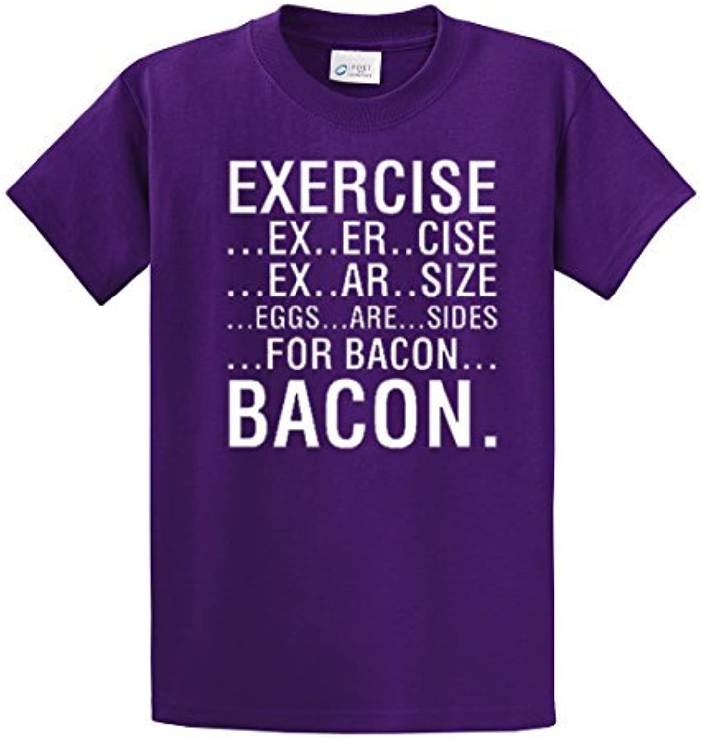 Exercise Eggs Are Sides For Bacon T-Shirt-purple-medium