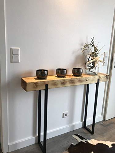 Konsolentisch Industriedesign, Industrial, Tisch, Holz, Metall