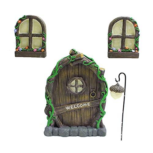 Porta delle Fate da Giardino, Mini Porta da Giardino in Miniatura, Porta E Finestra di Casa di Fata...