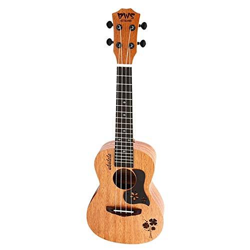 Ukelele 23 Pulgadas 4 Cuerdas Mini Guitarra Hawaiana Guitarra Acústica Ukelele Caoba Tablero De Trébol De Cuatro Hojas