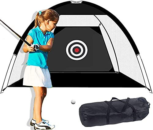 Golf Batting Net-9.8x6.5ft Backyard PRÁCTICA DE Golf Red con TIGO, Rango DE Cambio PORTÁTIL Golf Se Puede Usar para el hogar/Garaje/al Aire Libre con césped 10 * Pelotas de Golf