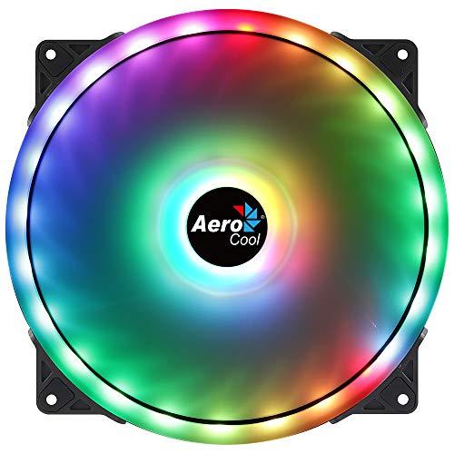 Aerocool DUO20, Ventola PC 200mm, ARGB LED Dual Ring, Anti-Vibrazione, Nero