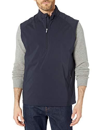 Cutter & Buck Men's Cb Weathertec Summit Half-Zip Vest, Navy Blue, Small
