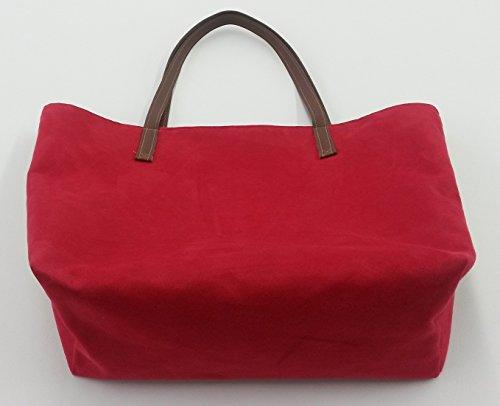 Shopper, Tragetasche für die modebewusste Frau (Bellini rot)
