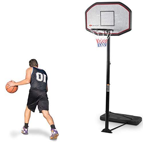 Costway Panier de Basket sur Pied avec Un Poteau Ajustable et Un Panneau Arrière pour Extérieur ou Intérieur