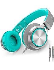 AILIHEN C8 hörlurar med mikrofon och volymkontroll lättviktshörlurar för mobiltelefoner (Mint)