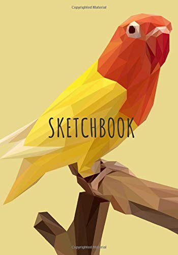 Sketchbook: Drawing book Lovebird Agapornis Inseparable Bird, large size for drawing, sketch, painting, watercolor, creation: 100 pages. Notebook and ... ideal for colored pencil, Parakeet Budgerigar