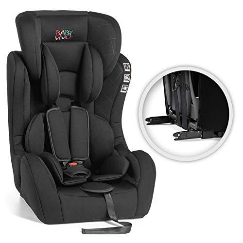 Baby Vivo Siège auto pour Enfants ISOFIX BEN ECE R44/04 Groupe 1/2/3 I/II/III de 9-36 kg 15 Mois à 12 Ans en Noir