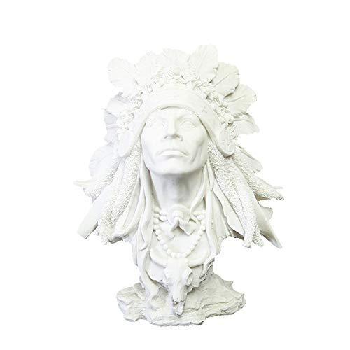 YJKJ Estatuas, Artesanas Creativas Adornos De Resina India Joyas De Pndulo De Decoracin del Hogar Europeo Decoracin De Personajes