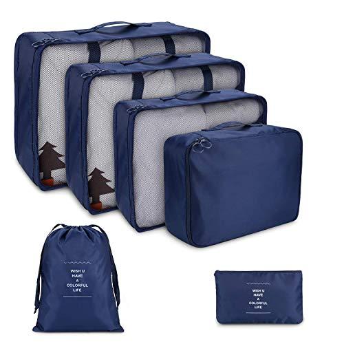 FunYoung Sacchetto di vestiti set 6 pezzi borsa da viaggio in caso sacchetto della lavanderia sacchetto del pattino di stoccaggio cosmetici scelta del colore bag