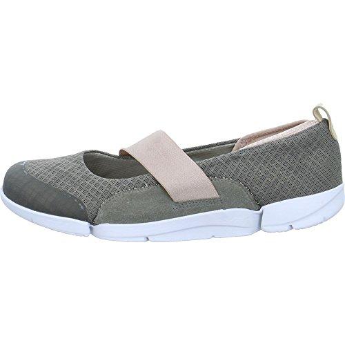 Clarks, Tri Allie, Textil-Schuhe in Khakitönen, Grün - grün - Größe: 41,5 EU