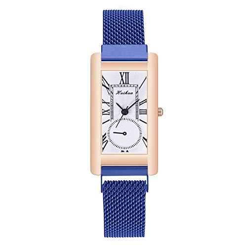 Relojes Para Mujer Reloj de cuarzo de la moda de las señoras Reloj de correa de acero inoxidable Reloj analógico reloj de pulsera Reloj de pulsera para mujer Casual Relojes Decorativos Casuales Para N