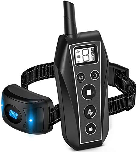 Brapezie Dog Training Collars, Dog Shock Collar, 2000 ft Remote Control with 3 Correction Training Modes, Shock, Vibration, Beep, Rechargeable Waterproof E-Collar for Dogs Small, Medium, Large
