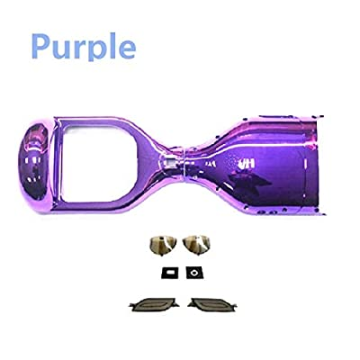 YAVOCOS Purple 6.5 inch Chrome Outer Plastic Cover Case Shell Replacement Smart Self Balance Wheel Balancing Electric Scooter Spare Parts