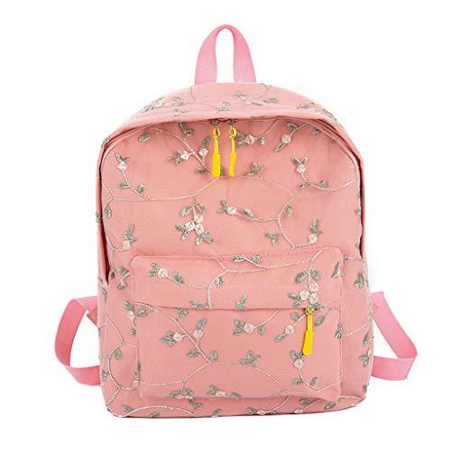 Cegduyi Hey Caterpillar Rucksack für Damen, Spitzen-Rucksack, Studententasche, modisch, großes Fassungsvermögen, Reisen, Wandern, Outdoor-Tasche, rose