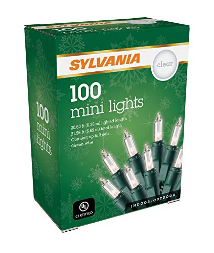 SYLVANIA Mini Christmas lights, Clear