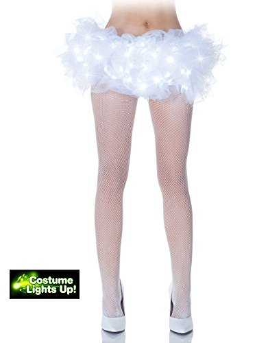Adult Costume Tutu, Light-Up White