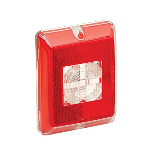 Fulton Bargman 48-84-711 Enhanced Height Incandescent Reflex (with Clear Center Backup Lens - Red Border)