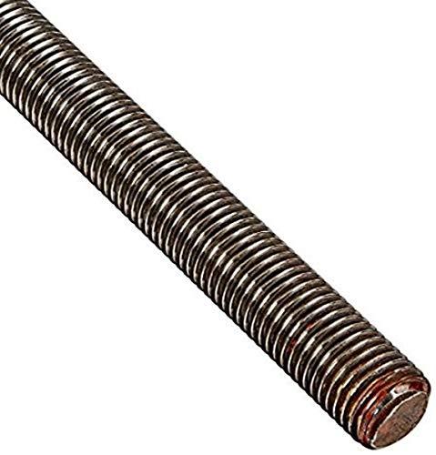 Alloy Steel Fully Threaded Rod, Meets ASTM A193 Grade B7, 1'-8 Thread Size, 72' Length, Right Hand Threads