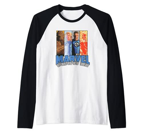 Marvel Fantastic Four Super Heroes The Timeless Collection Camiseta Manga Raglan