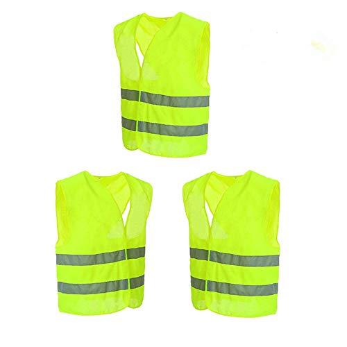 chaleco contra accidentes tama/ño est/ándar EN ISO 20471 lavable 6 piezas visibilidad de 360 grados sin arrugas chaleco de seguridad Minleer Chaleco reflectante Amarillo