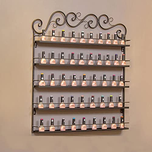 Display ZYY~ Boîtes de Rangement murales pour Vernis à Ongles et huiles essentielles, Présentoir en métal de Vernis à Ongles d'art de Salon, Présentoir de Parfum/Rouge à lèvres/Finition cosmétiq