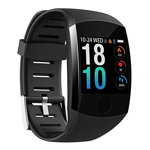 Nobrand QingDaoFuLongGuanHuangMuYeGongSi Bluetooth-Smartwatch, Herren, Q18, mit Kamera, Facebook, WhatsApp, Twitter, Synchronisation, SMS, unterstützt SIM- und TF-Karte für iOS Android, 0, Schwarz