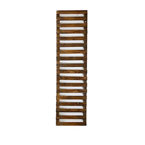 YFF Tuin-display-rek, binnenbloem-rek, woonkamer-slaapkamer-decoratie-frame, anticorrosie-hardhouten bloemenrek (1 stuks), 4 maten decoratie-wand-hangende bloemen-frame-houten hek-Bl