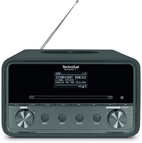 TechniSat DIGITRADIO 584 – Stereo DAB+ Internetradio (CD-Player, Wireless-Charging, Alexa Sprachsteuerung, WLAN, Bluetooth, USB, Wecker, Equalizer, 2 x 10 Watt Lautsprecher) anthrazit