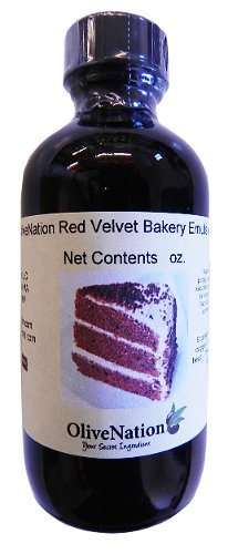 OliveNation Red Velvet Cake Emulsion - Size of 16 oz - Kosher labeled, Gluten free and soluble in water Emulsion - Perfect To Flavored Cakes and Cupcakes