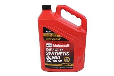 Ford Genuine XO-5W30-5QSP SAE 5W-30 Premium Synthetic Blend Motor Oil - 5 Quart Jug