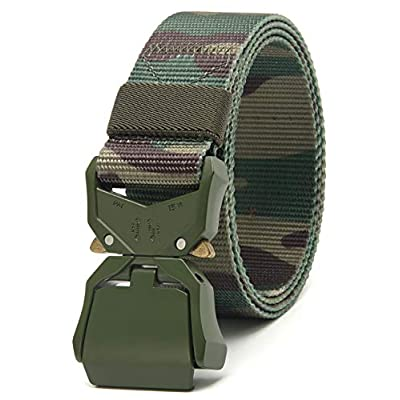 Amazon - Save 60%: Chaoren 2 Pack Mens Quick Release Tactical Belt 1.5″, Casual Military Riggers W…
