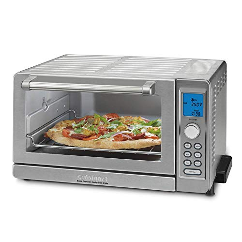 Cuisinart TOB-135 Deluxe Convection Toaster Oven Broiler, Brushed Stainless (Renewed)