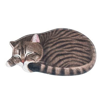 Felpudo Exterior Taberos de Gato 3D para Puerta de Entrada Puerta de Dibujos Animados Animales Alfombras Impresas Antideslizantes Mat Niños Lindas Alfombras para Sala de Estar Baño Felpudo Barato