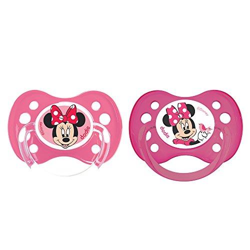 Dodie - Lote de 2 chupetes, anatómicos, A64, más de 6 meses, diseño de Minnie Mouse