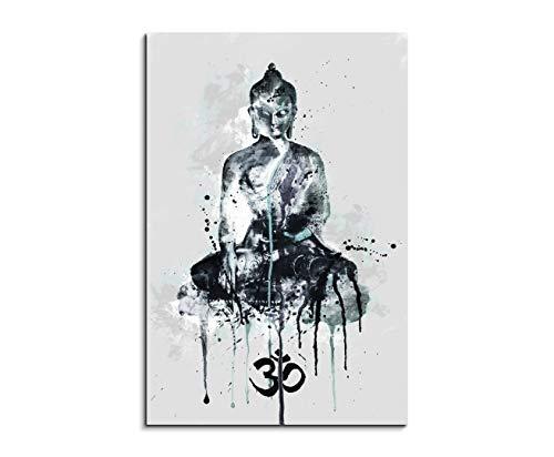 Paul Sinus Art Harmony 90x60cm Aquarell Art Wandbild auf Leinwand fertig gerahmt Original Unikat