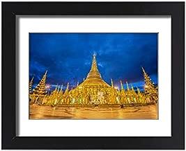 Media Storehouse Framed 15x11 Print of Shwedagon Pagoda Before Sunrise, Yangon, Myanmar (14610540)