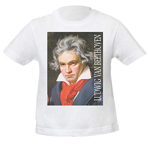Ludwig Van Beethoven Classic Music Música clásica Niños Unisexo Niño Niña Camiseta...