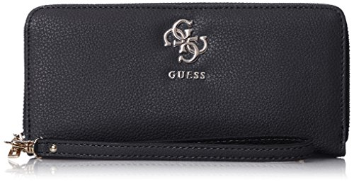 Guess Slg Wallet, Damen Geldbörse, Schwarz (Black), 2x10x21 cm (W x H L)