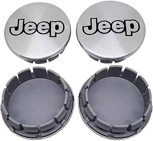 4 Piezas Tapas centrales, para Jeep 56mm 64mm Coche Central Llanta Rueda Cubre Embellecedor Insignia