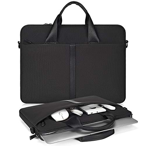 15.6 Inch Laptop Briefcase for Women Men Bag for HP Pavilion/Envy 15.6, Dell Inspiron 15 3000 5000, Lenovo Ideapad 15.6, MSI GS65/GS66 15.6, Acer Samsung ASUS Chromebook 15.6' Carry Case, Black