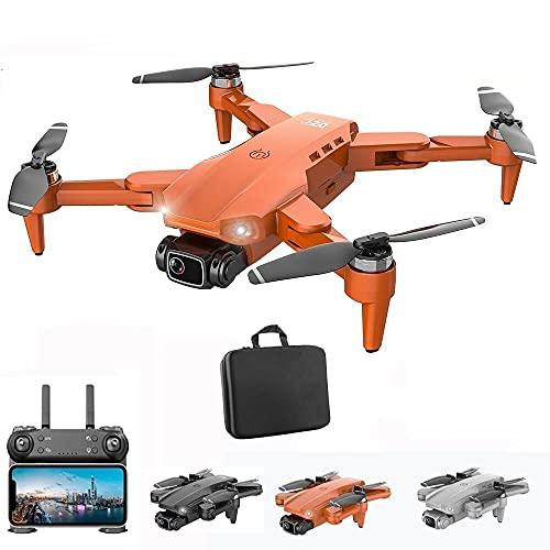 Drone com Camera 4k L900 Pro Full HD Duas Cameras Com GPS 5G WIFI FPV Transmissão em Tempo Real Motores Brushless Alcance remoto 1,2km Drone Profissional Com Case (Laranja)